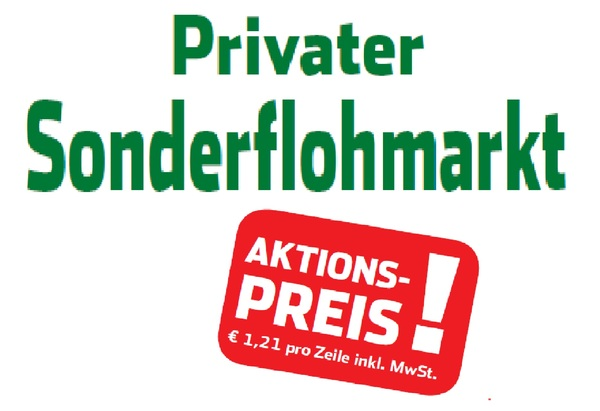 Privater Sonderflohmarkt